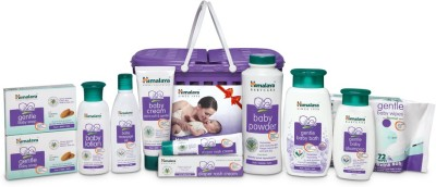 HIMALAYA HAPPY BABY GIFT BASKET (9 IN 1) (White)