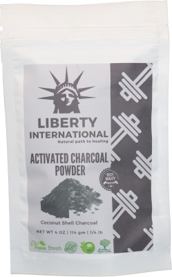 LIBERTY INTERNATIONAL 100% Natural Activated Charcoal Powder For Skin Treatment and Teeth Whitening and Cleaning (Coconut Shell Charcoal) NT19 - Multi(114 g)