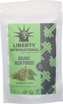 LIBERTY INTERNATIONAL Organic Herbal Neem Powder For Anti-Dandruff Hair And Acne Face , Skin & Hair Care NT28(227 g)