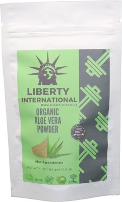 LIBERTY INTERNATIONAL 100% Organic Aloevera Powder (Aloe barbadenis) for Face, Skin Care and Hair Care NT19 - Multi(114 g)
