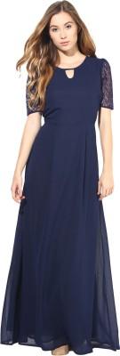 La Zoire Women Maxi Dark Blue Dress