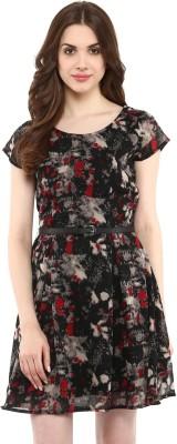 La Zoire Women Fit and Flare Black Dress