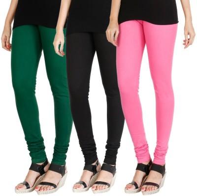 Zahid Fashion Churidar  Legging(Black, Red, Green, Solid)