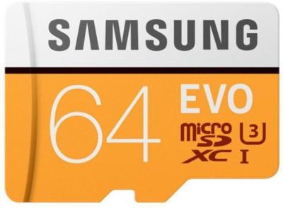 Samsung U3 UHS 1EVO 64  GB SDXC UHS Class 1 100 MB/s Memory Card