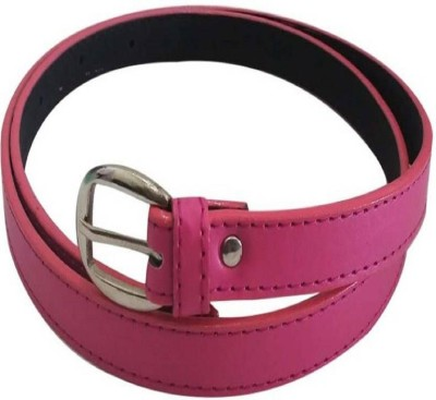 DIVYAZON Women Casual Pink Genuine Leather Reversible Belt