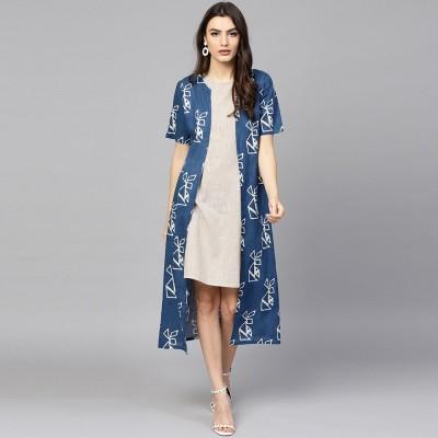 Aks Women A-line Blue Dress