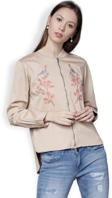 Tokyo Talkies Full Sleeve Solid Women Jacket at flipkart