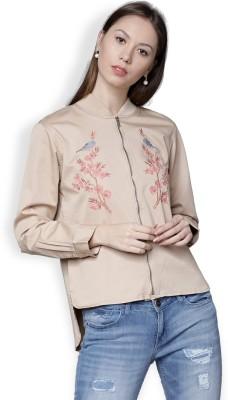 Tokyo Talkies Full Sleeve Solid Women Jacket at flipkart