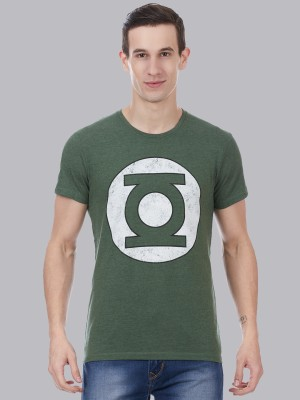 DC Comics By Free Authority Printed Men Round Neck Green T-Shirt