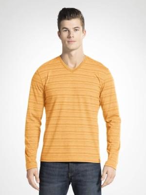 Jockey Solid Men V Neck Black T-Shirt