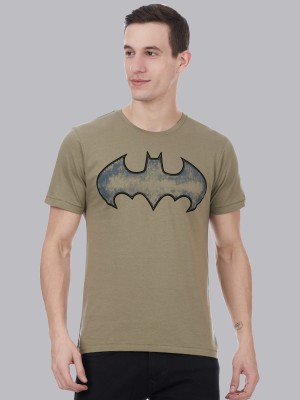 Batman By Free Authority Printed Men Round Neck Green T-Shirt