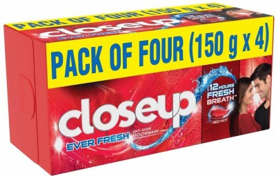Closeup RED GEL HOT Toothpaste(600 g, Pack of 4)