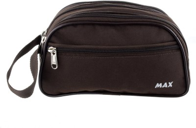 PSH Canvas Multipurpose Toiletry Kit with 4 Compartment Travel Shaving Bag(Brown)