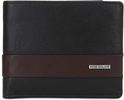 Peter England Men Brown Genuine Leather Wallet(5 Card Slots)