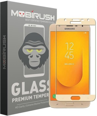 MOBIRUSH Edge To Edge Tempered Glass for Samsung Galaxy J7 Duo(Pack of 1)