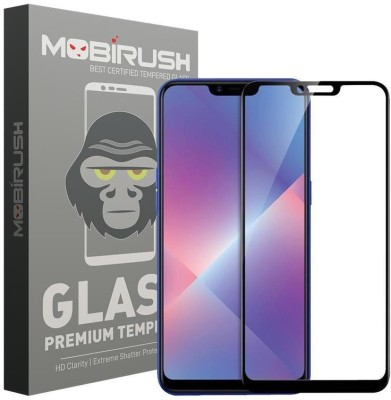 MOBIRUSH Edge To Edge Tempered Glass for OPPO A5, Oppo A3s, Realme 2, Realme C1, Realme C1(Pack of 1)