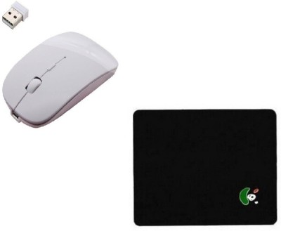 ROQ Premium series pad WITH Wireless Optical Mouse USB, White