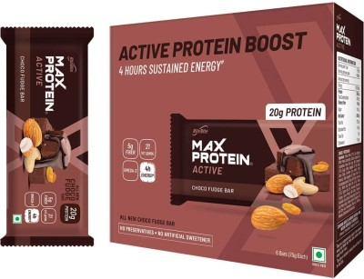 RiteBite Max Protein Active Meal Replacement - Pack Of 6 Protein Bars(450 g, Choco Fudge)