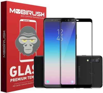 MOBIRUSH Edge To Edge Tempered Glass for Samsung Galaxy A8 Star(Pack of 1)