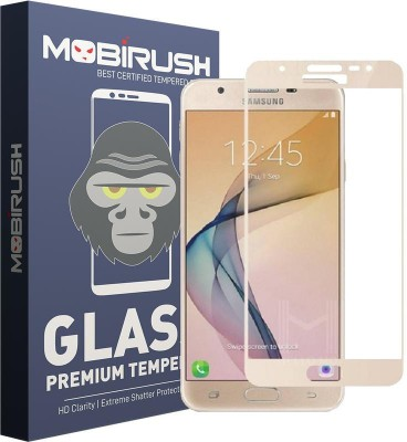 MOBIRUSH Edge To Edge Tempered Glass for Samsung Galaxy J7 Prime(Pack of 1)