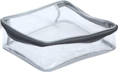 DIVYANA Multi Purpose Transparent Handkerchief/Shawl/Socks/Cosmetics/Jewellery/Toiletry/Medicine/Stationery/ Electronics/ Clothes Cover Organizer Makeup, Jewellery, Stationery, Clothes Vanity Box(Transparent)