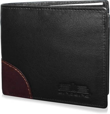 Arpera Men Casual, Formal, Travel, Trendy Black Genuine Leather Wallet(9 Card Slots)  available at flipkart for Rs.1458