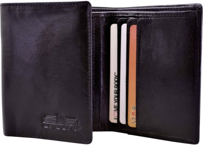 Arpera Men Formal Black Genuine Leather Wallet(6 Card Slots)  available at flipkart for Rs.1250