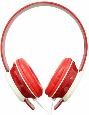 TP TROOPS TP-7046 Wired Headset with Mic(Black, Red, Blue, Grey, Over the Ear)