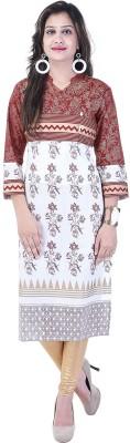 Natty India Casual Printed Women Kurti(Brown)