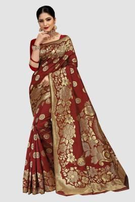 Patang International Woven Banarasi Art Silk Saree