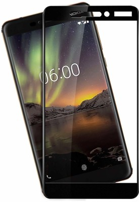 SAVD Edge To Edge Tempered Glass for SAVD- Full Edge-to-Edge 6D Screen Protector for Nokia 6/6.1, 2018 (Black)(Pack of 1)
