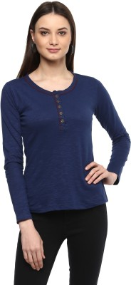 Harpa Casual Full Sleeve Solid Women
