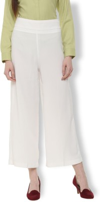 Vastraa Fusion Regular Fit Women White Trousers
