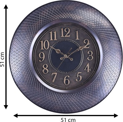eCraftIndia Analog 51 cm X 5 cm Wall Clock(Black, With Glass) at flipkart