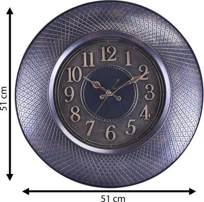 eCraftIndia Analog 51 cm X 5 cm Wall Clock(Black, With Glass) at flipkart