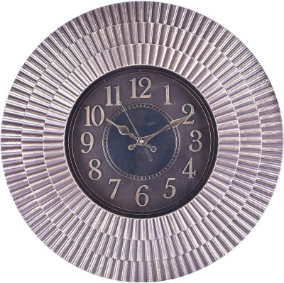 eCraftIndia Analog 56 cm X 4 cm Wall Clock(Grey, With Glass) at flipkart
