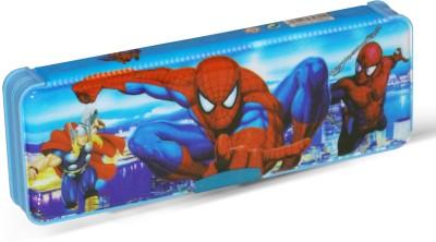 Akshat Geometry SPIDERMAN Art Plastic Pencil Box(Set of 1, Blue)