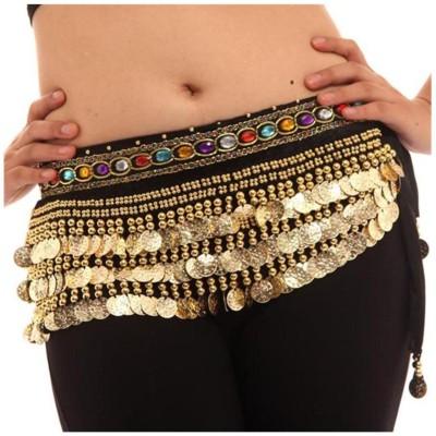 VRITRAZ Women Party Gold Fabric, Metal Belt