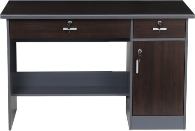 Delite Kom Lucky Computer Table Engineered Wood Computer Desk(Straight, Finish Color - Wenge)