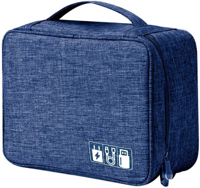 HOUSE OF QUIRK Electronics Accessories Organizer Bag, Universal Carry Travel Gadget Bag for Cables, Plug and More, Perfect Size Fits...