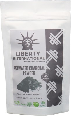 LIBERTY INTERNATIONAL Natural Activated Coconut Shell Charcoal Powder, For Skin Treatment, Instant Teeth Whitening & Face Wash NT28(227 g)