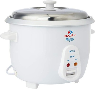 Bajaj majesty 1.8 litre rice cooker Electric Rice Cooker with Steaming Feature(1.8 L, White) at flipkart