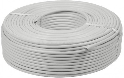 psas 3+1 CCTV Solid Copper Cable White 90.0 m Wire(White)