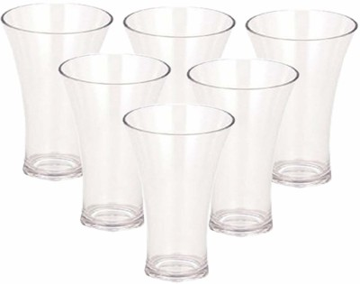 Borosil Vision Glass Large - 350ml set of 6 Glass Set(Glass, 350 ml, Clear, Pack of 6)