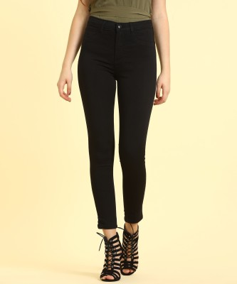 Flying Machine Jogger Fit Women Black Jeans
