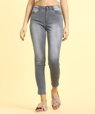 Flying Machine Skinny Women Grey Jeans