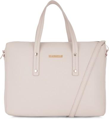 Caprese 14 inch inch Laptop Messenger Bag(Beige)