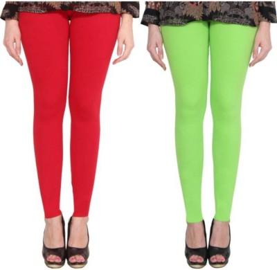 AK Fashion Churidar Length Legging(Red, Green, Solid)