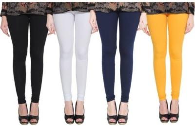 EMPISTO Churidar  Legging(White, Yellow, Solid)