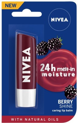 NIVEA Lip Care Fruity Shine Blackberry Berry(Pack of: 1, 4.8 g)